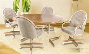 Dining Room: outstanding dinette sets with rolling chairs Kitchen Chairs With Casters No Arms