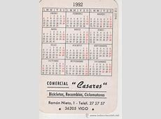 calendario 1992 motociclismo Comprar Calendarios