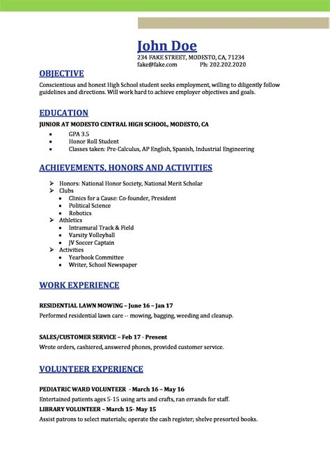 High School Student Resume by High School Resume Resumes For High School Students