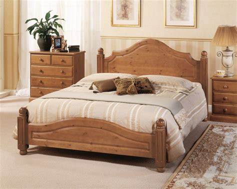 size wood bed airsprung carolina 4ft6 low footend cinnamon wooden 15350