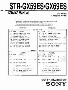 Sony Str-gx59es  Str-gx69es Service Manual