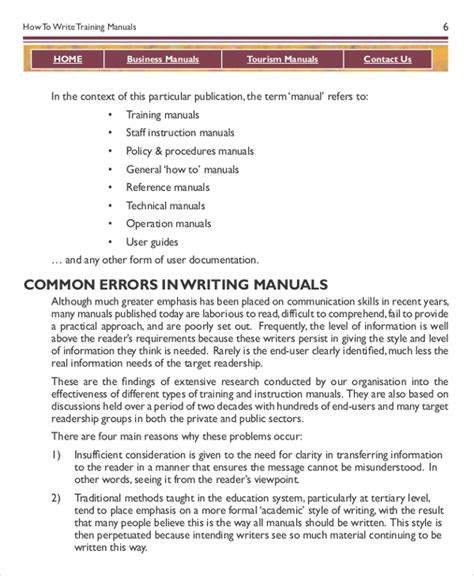 training guide template free instruction manual template 10 free word pdf documents