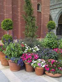 perfect flower garden design Potted flower ideas photos