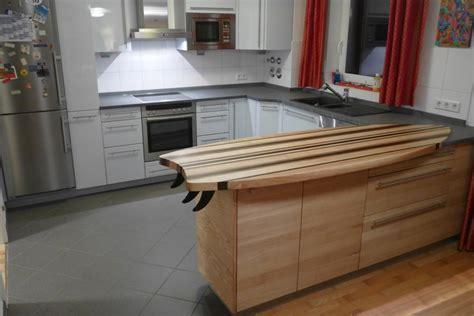 Küchenarbeitsplatte Aus Grauem Schiefer Meets Surfbrett-buffet