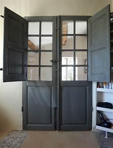 porte ancienne avec volets interieurs nos realisations With porte de garage et porte intérieure ancienne