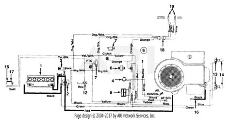 Huskee Mower Electrical Diagram by Mtd 134a676f190 38 Quot Lawn Tractor Lt 13 1994 Parts