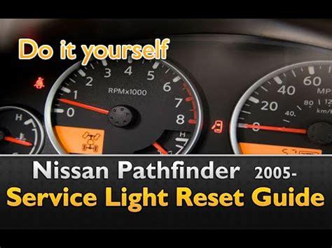 service engine light on nissan pathfinder service light reset youtube