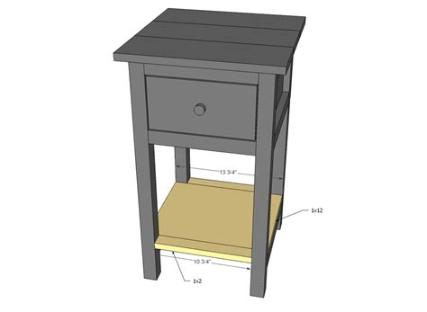 Nightstand Plans Free by White Mini Farmhouse Bedside Table Plans Diy Projects