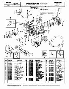 Poulan Pro Ppb3416 Chainsaw Parts List  2008