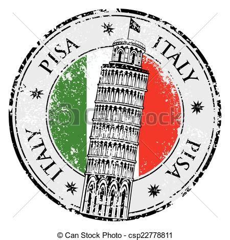toren van pisa tekening estilla italia torre vector pisa estilla