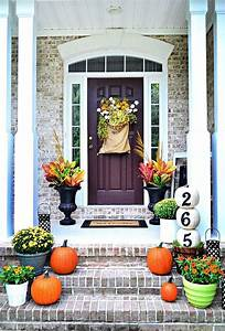 25, Inexpensive, Fall, Porch, Decorating, Ideas, U0026, Designs, For