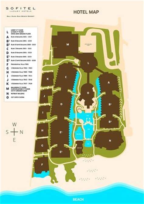 hotel map picture  sofitel bali nusa dua beach resort