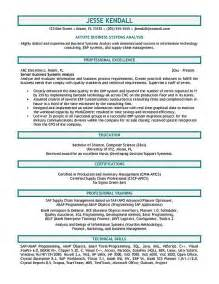 It Systems Analyst Resume by Systems Analyst Resume Exle