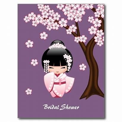 Poster Geisha Kokeshi Doll Zazzle Kimono Posters