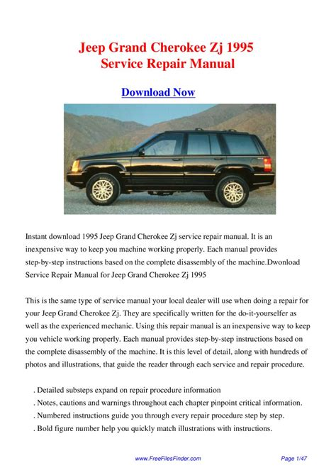 service and repair manuals 1995 jeep grand cherokee head up display jeep grand cherokee zj 1995 service repair manual by hong lii issuu
