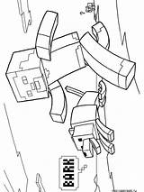 Minecraft Coloring Pages Printable Cartoon sketch template