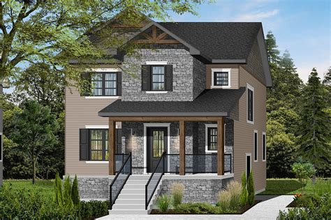 3 Bedroom Transitional House Plan with a Small Footprint