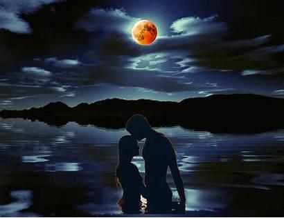 Dreamies Romantic Night Gifs Couple Animated Moon