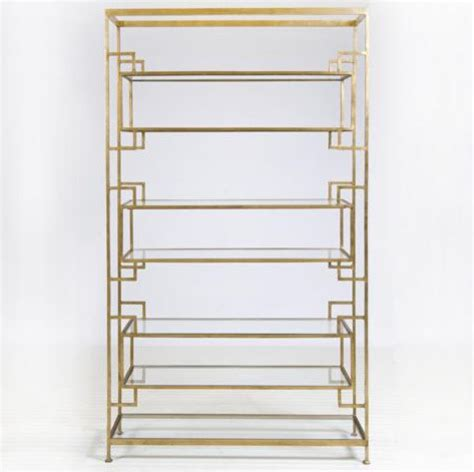 Worlds Away Etagere - worlds away lamar gold leafed etagere traditional