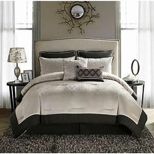 King, Size, Comforter, Set, Beige, Brown, Elegant, 8