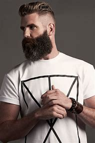 Man Short Hairstyles with Beards