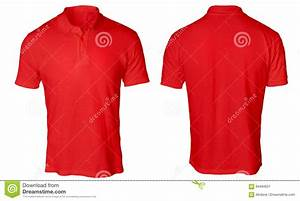 Red Polo Shirt Mock Up Stock Photo - Image: 94494621