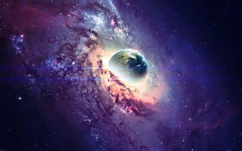 wallpaper galaxy universe black hole stars nebula