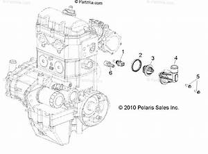 Polaris Side By Side 2011 Oem Parts Diagram For Engine  Thermostat