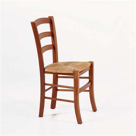 chaise rustique en bois et paille brocéliande 4 pieds