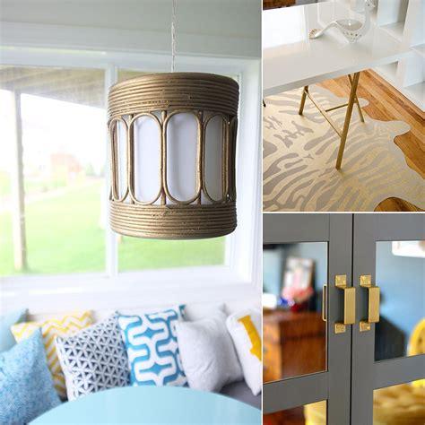 gold home diys popsugar home