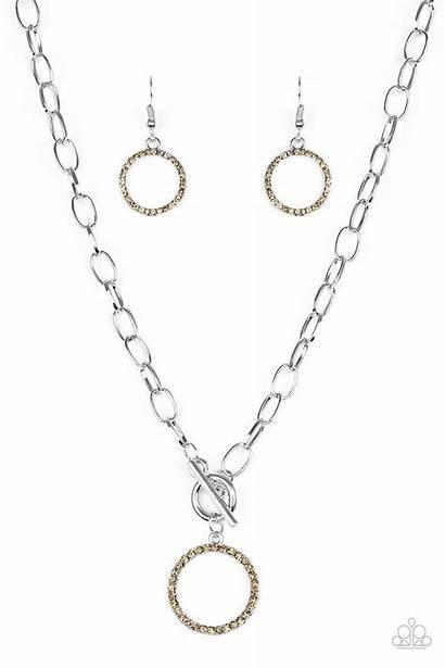 Brown Favor Paparazzi Necklace Topaz Necklaces Rhinestones