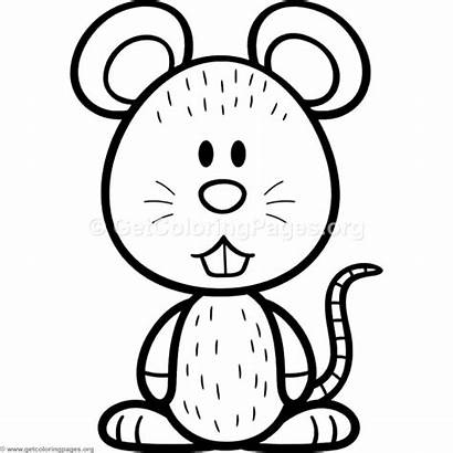 Mouse Coloring Pages Cartoon Getcoloringpages Printable Getdrawings