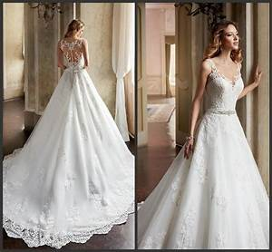 gorgeous 2016 a line wedding dresses sheer scoop neckline With church wedding dresses