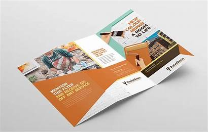 Template Brochure Fold Tri Painter Decorator Trifold