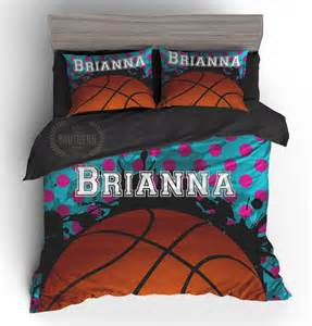personalized bedding set girls basketball comforter or duvet