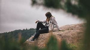 Download, Wallpaper, 1920x1080, Girl, Loneliness, Alone, Solitude, Branches, Full, Hd, Hdtv, Fhd