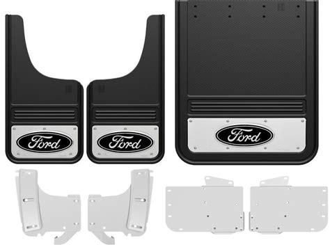 Ford Mud Flaps by 2017 Ford F350 Black Oval Gatorback Dually Mud Flap Set