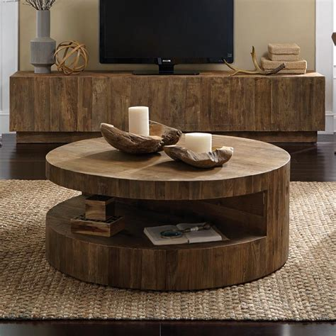 It will be great if you have any small ceramic pot or figurine. Weston Round Coffee Table | Decorating coffee tables, Coffee table design, Round wood coffee table