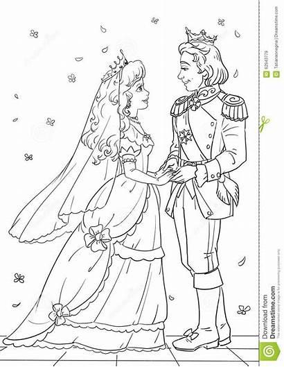 Royal Coloring Prinses Kleurplaten Prince Cinderella Kado