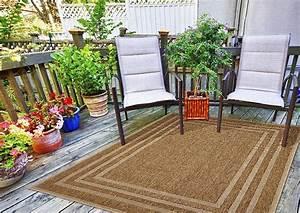 Teppich Für Balkon : outdoor teppich f r terrasse balkon braun beige natural border beige 200 285 cm teppich ~ Frokenaadalensverden.com Haus und Dekorationen