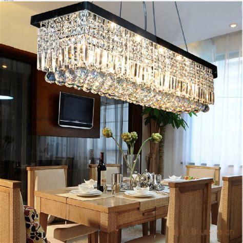 unique rectangular chandelier dining room modern