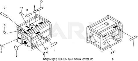 honda eb5000x a generator jpn vin ea7 3000001 parts diagram for em eb label