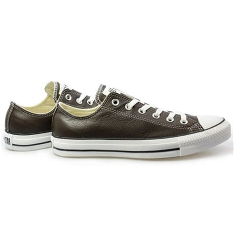 converse chocolate brown leather mens womens trainers sneakers shoes size   ebay