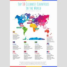 The 10 Cleanest Countries In The World For 2016 Samantha