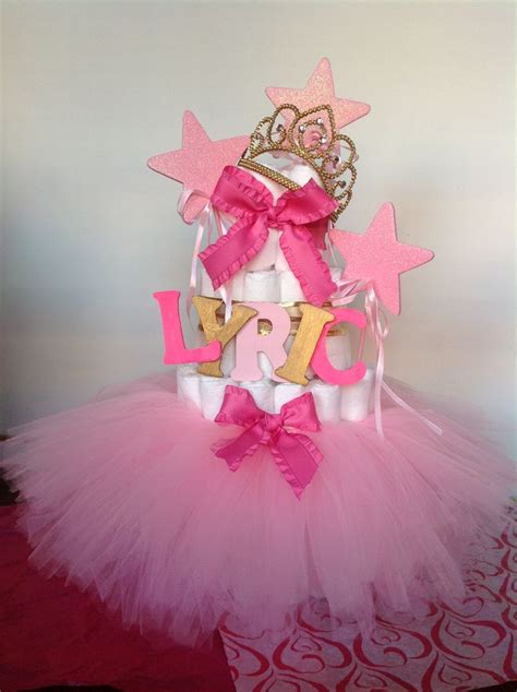 TUTUS AND TIARAS BABY SHOWER DIAPER CAKE.   OHH BABY!   Pinterest   Baby shower diapers, Tutu