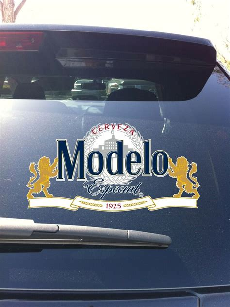 modelo especial lion cerveza beer window vinyl