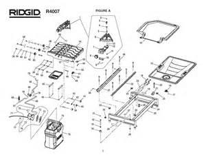 ridgid r4007 tile saw parts