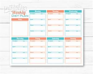 meal planner for weight loss template printable meal planner With weight watchers menu planner template