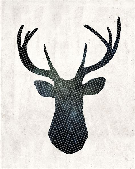 Free Art Download Large Stag Head Print Primer