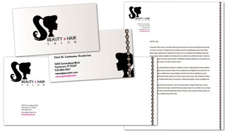 letterhead template  beauty spa hair salon order